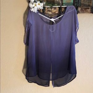torrid Tops - Sheer purple ombre blouse